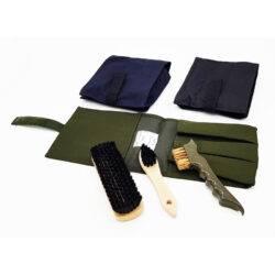 Набор щеток для обуви (3 предмета) зеленый