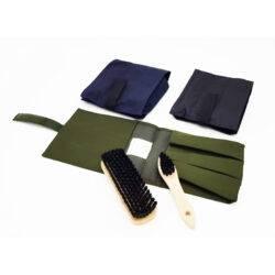 Набор щеток для обуви (2 предмета) зеленый